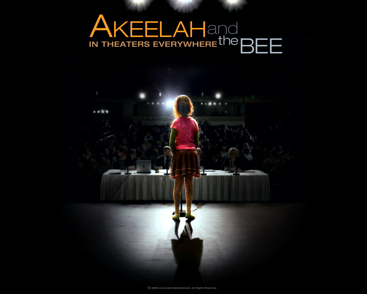 akeelah the bee and waiting in I went to an advance screening and found akeelah to be so much more than i  expected i sat in the theater dabbing tears from eyes throughout the showing.